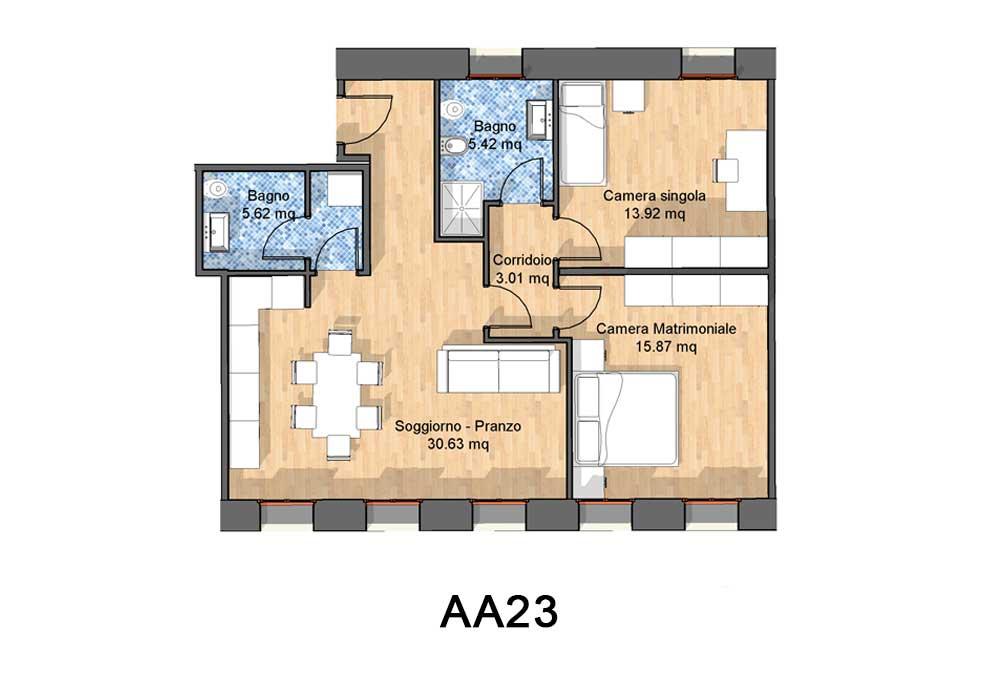 Appartamenti in vendita a Vittorio Veneto , tipologia AA23