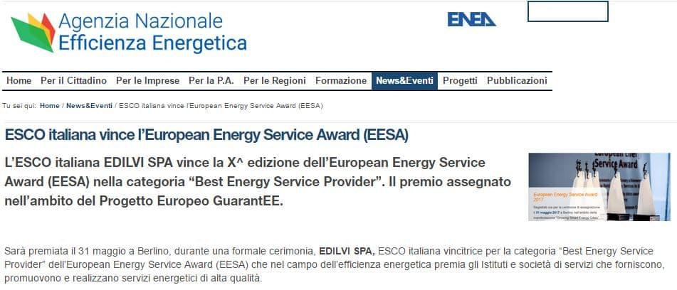 european energy service award enea