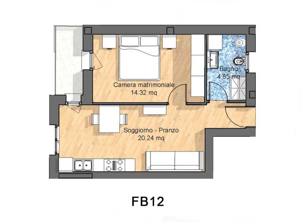 Appartamenti in affitto a Treviso e Provincia , Bilocale al primo piano
