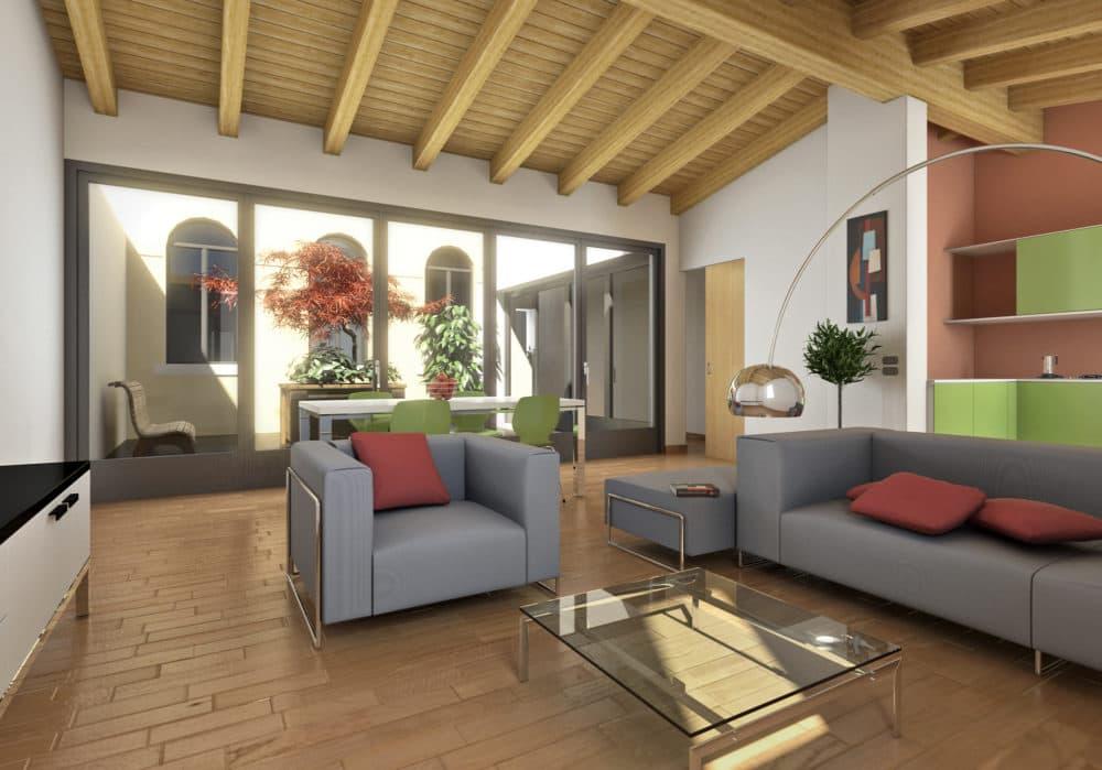 Appartamenti in vendita a Vittorio Veneto , Appartamenti con due camere e giardino. Vendita immobiliare