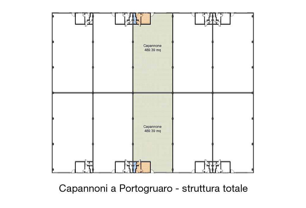 Capannoni in vendita : Capannone in vendita a Portogruaro . Doppia sezione da 500mq