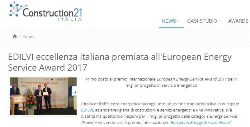 european energy service award construction 21