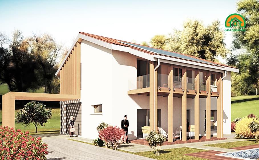 Progetto casa Gioia attraverso il brevetto di realizzazione edifici NZEB Casa Smart Plus