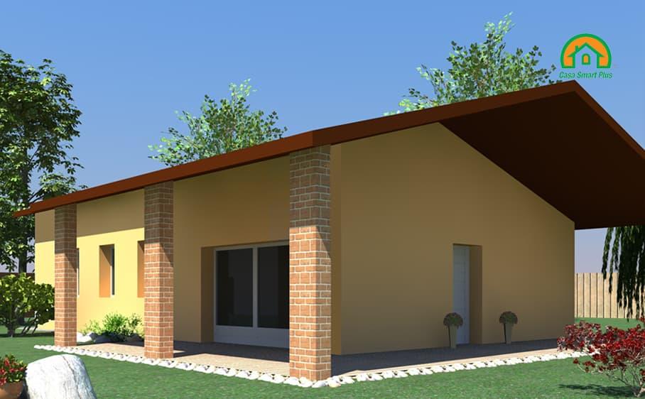 Progetto casa Giorgia attraverso il brevetto di realizzazione edifici NZEB Casa Smart Plus