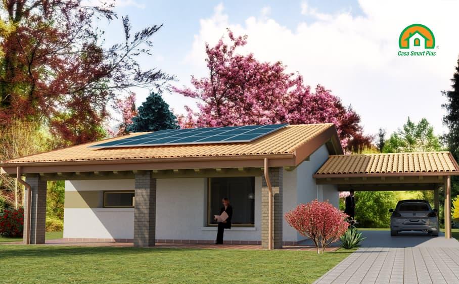 Progetto casa Katiuscia attraverso il brevetto di realizzazione edifici NZEB Casa Smart Plus