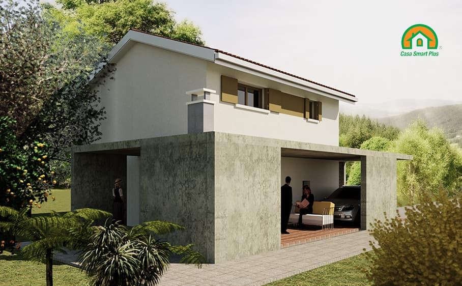 Progetto casa Martina attraverso il brevetto di realizzazione edifici NZEB Casa Smart Plus