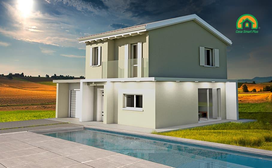 Progetto casa Michela attraverso il brevetto di realizzazione edifici NZEB Casa Smart Plus
