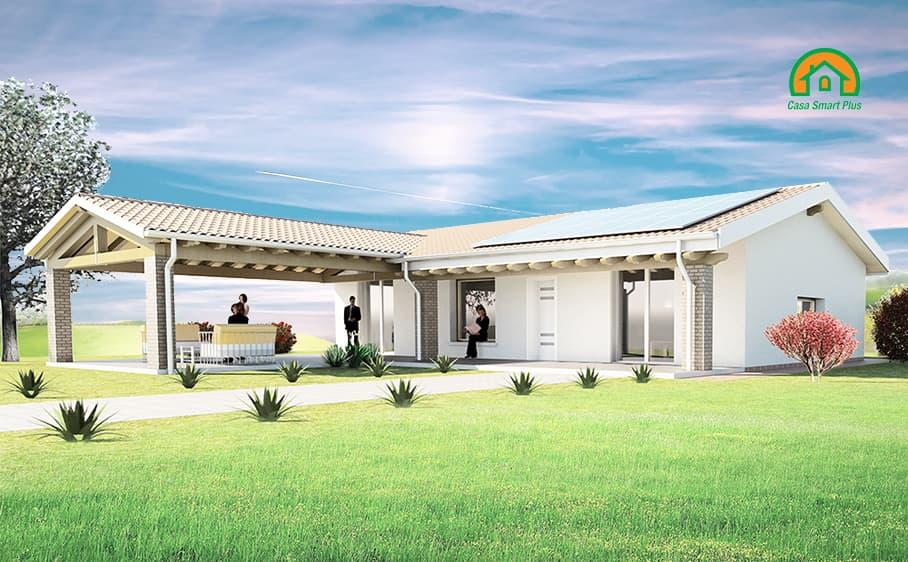 Progetto casa Sara attraverso il brevetto di realizzazione edifici NZEB Casa Smart Plus