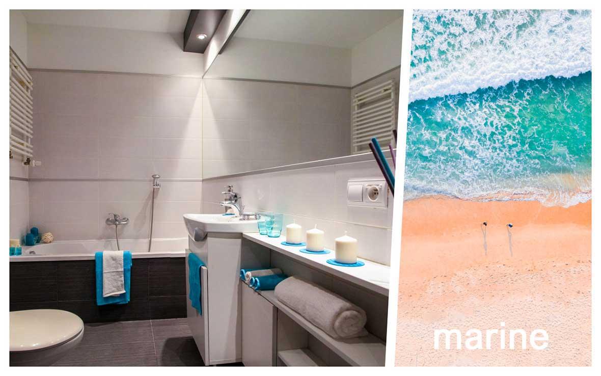 Profumare casa zona bagno: fragranza marina