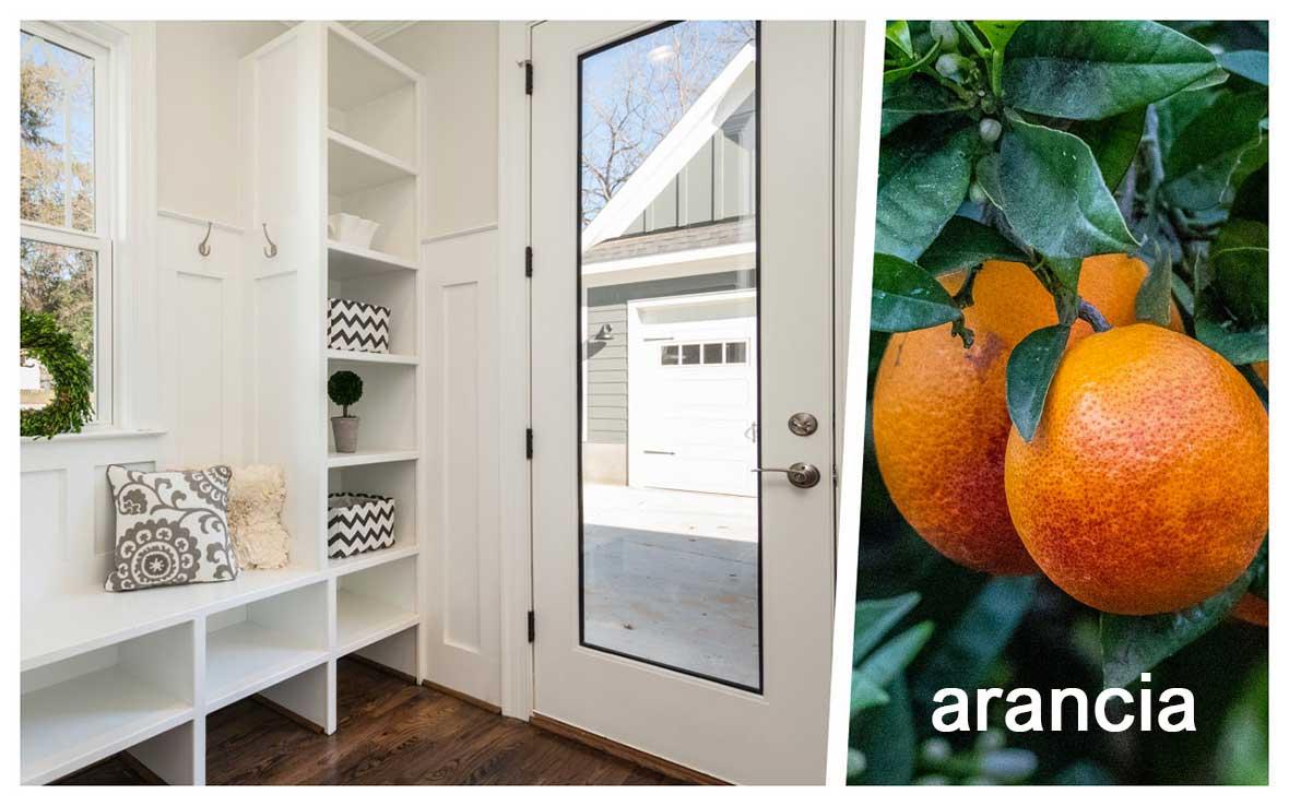 Profumare casa ingresso: arancia