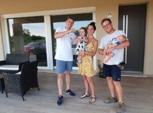 Costruire casa a Treviso consegna chiavi famiglia vanin franceschini