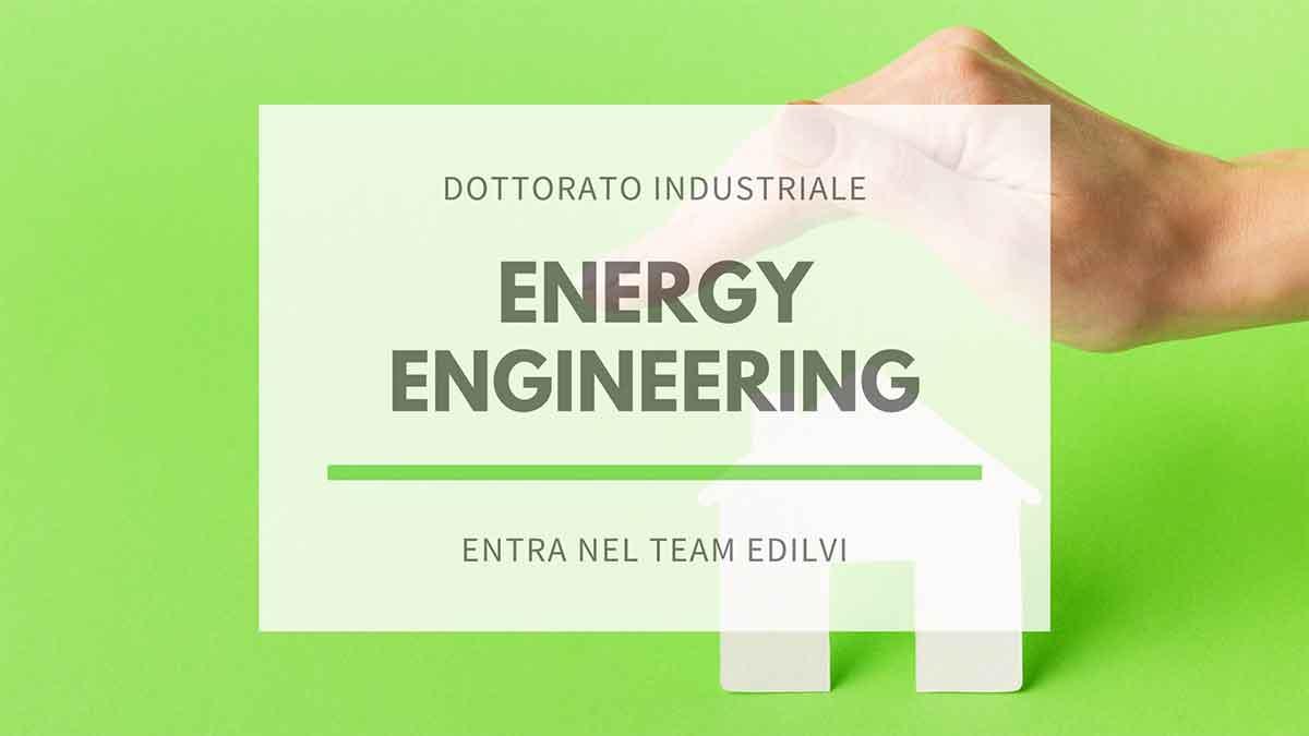 Dottorato industriale in Energy Engineering - mano che protegge modellino di casa in carta